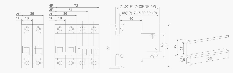 Mcb Double Power Interlock Circuit Breakerdz47 Type